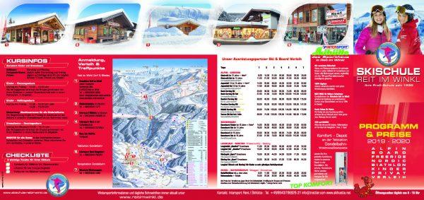 Flyer Skischule Reit im Winkl